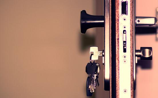 Single Key in door